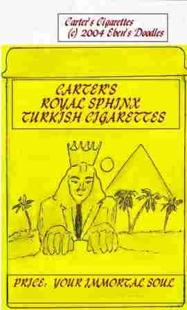 Carter's Royal Sphinx Turkish Cigarettes
