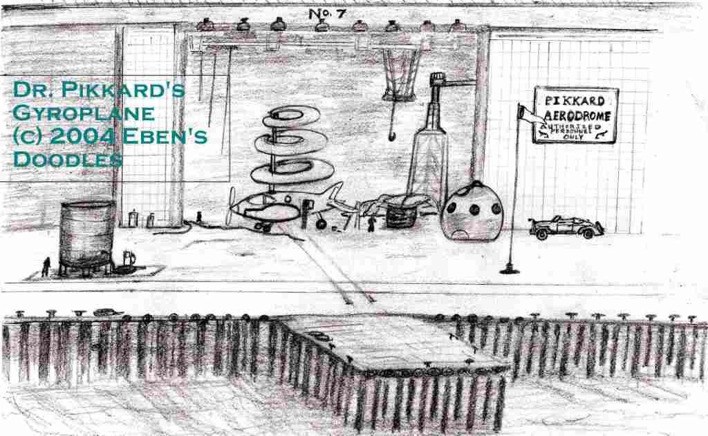 Dr. Pikkard's Gyroplane and Aerodrome