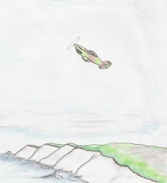 Spitfire over Dover Cliffs