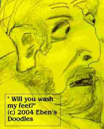 Will you wash my feet?